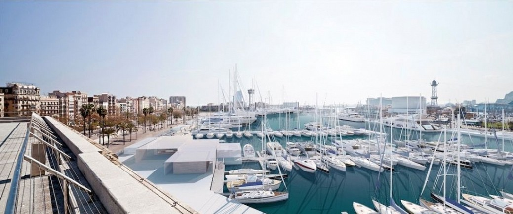 Views of the marina and receptio